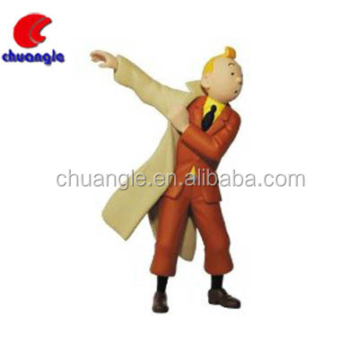 Resin Cartoon Figurines Tintin Figures Anime The Adventures Of TintinToy