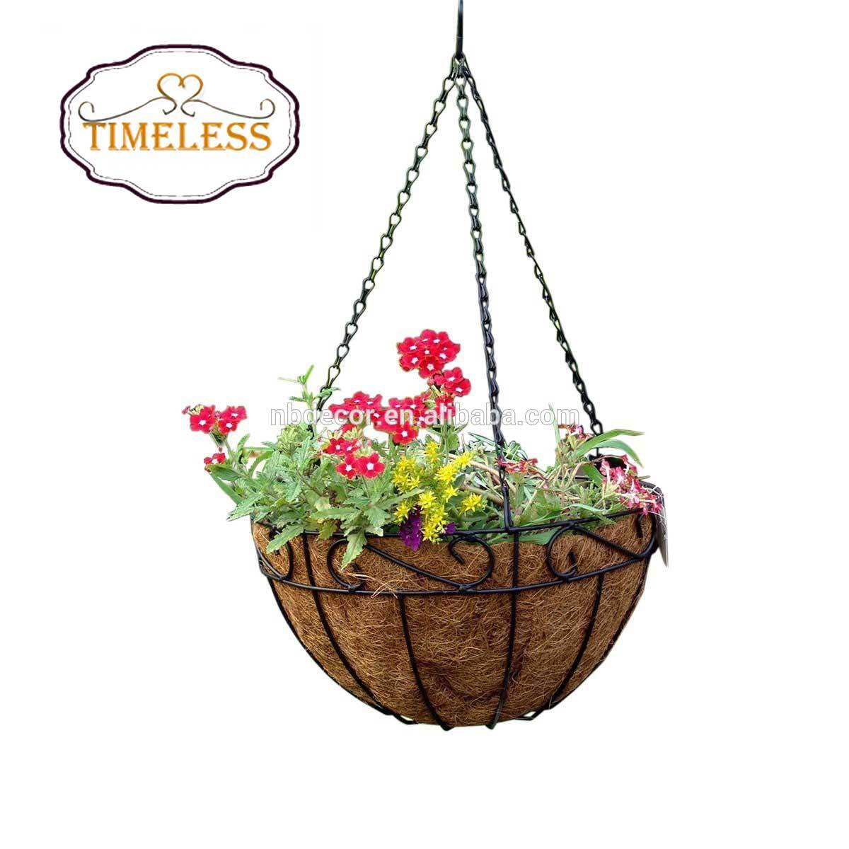 Factory Directly Metal Hanging Baskets For Planter 14 Inch Round Wire Plant Holder With Chain View Hanging Basket Tm Product Details From Ningbo Timeless Household Products Co Ltd On Alibaba Com