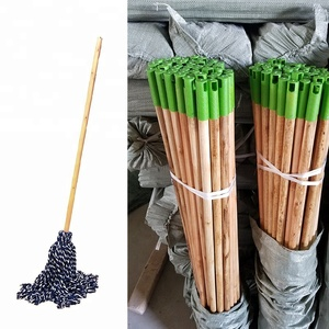Natural broom handles stick thread broom China supplier wood mop handle garden usage cleaning tools