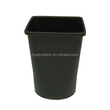 Pop Plastic Nursery Black Box Containers Tall Square Planters
