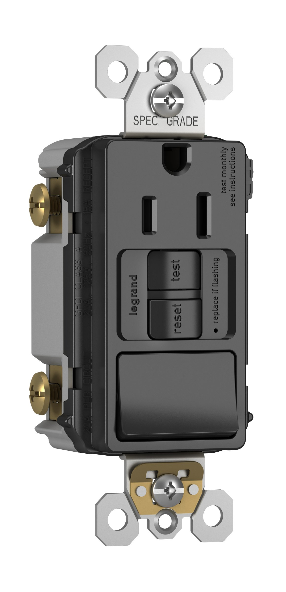 Cheap Gfci Outlet Test Find Deals On Line At Wiring A Receptacle Get Quotations Legrand Pass Seymour 1597swttrbkcc4 Tamper Resistant Combo With Switch Self