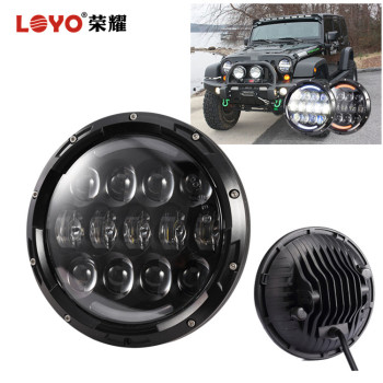 7 inch round led headlamp for jeep wrangler, 4 door led headlight