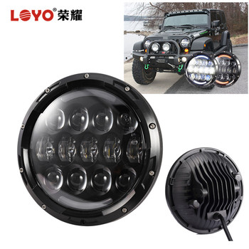 7inch round led headlamp for jeep compass wranglerr unlimited jk 4 door led headlight