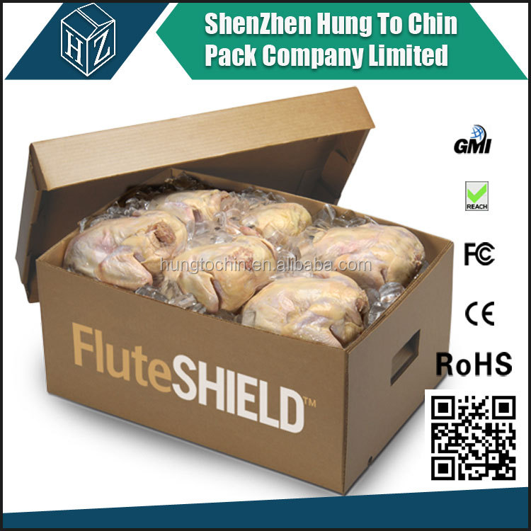 Factory professional manufacture waterproof wax carton box for frozen meat