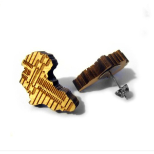 Wood Africa Stud Earring WE-112