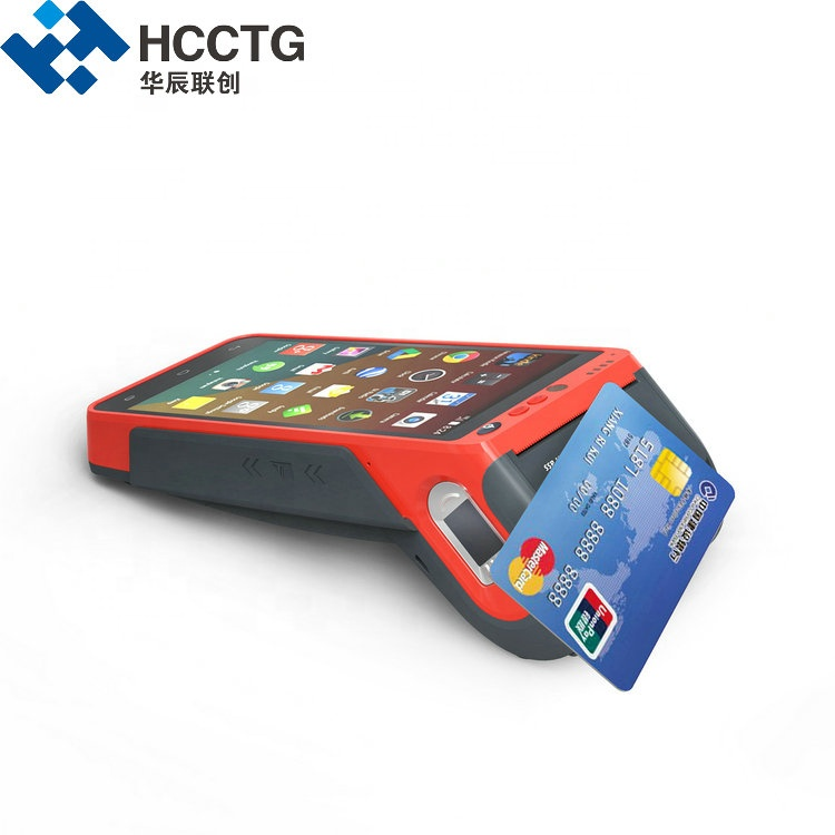 3G/4G/WIFI 5.5 Inch Touch Screen Handheld Edc Fingerprint Android POS Terminal With Printer and NFC HCC-Z100