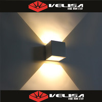 2x3W LED outdoor wall light with up and down illumination for external /outdoor / exterior use .