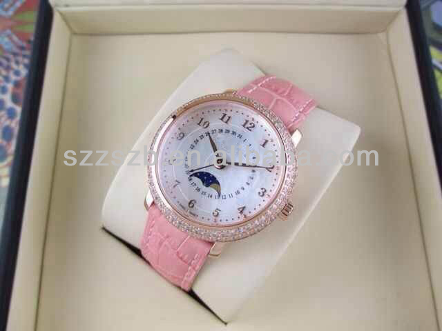 2014 new diamond ladies watch with swiss brand fake high quality watch from China