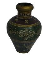 Indian Antique Home Decor Handmade Painted Metal Flower Pot/Vase