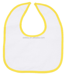 wholesale cheap promotion plain white cotton baby bibs manufacturer