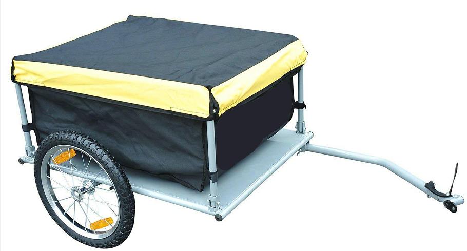 Remolque de carga tc3004 pet cerrado para bicicleta