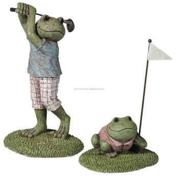 Golf ranas estatua del jard n al aire libre set buy for Ranas decoracion jardin