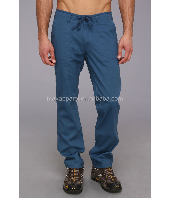 Mens Regular Relaxed Fit Hemp & Organic Cotton Blend Pants ...