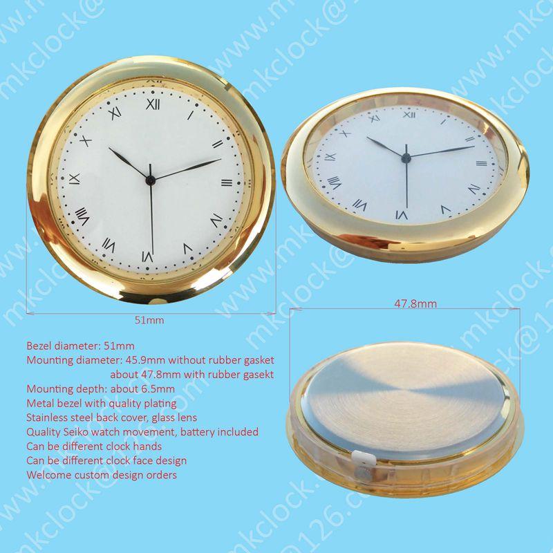 51mm Metal Watch Bezel Insert Crystal Clock Watch Insert