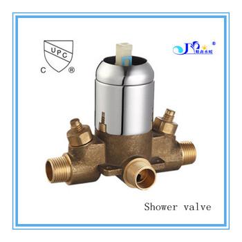 upc standard bathroom faucet diverter valve in chrome plate brass - Shower Diverter Valve