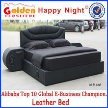 Unique design king size queen size music bed of Foshan manufacturer 2842