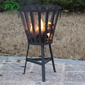 Outdoor Round Design Metal Garden Fire Bowl Heater Pit Basket