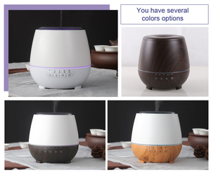 300ml Bluetooth Diffuser Essential oil Aroma Diffuser with the alarm clock -wood