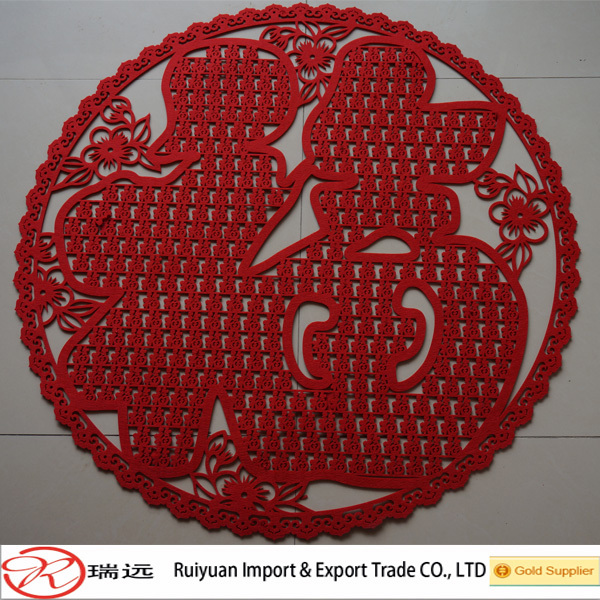 Attractive and durable felt chinese new year decorations indoor or outdoor