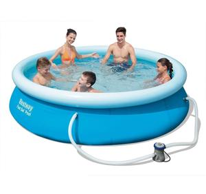 Bestway Inflatable 8FT X 26IN / 2.44M X 66CM Fast Set Round Above Ground Swimming Paddling Pool