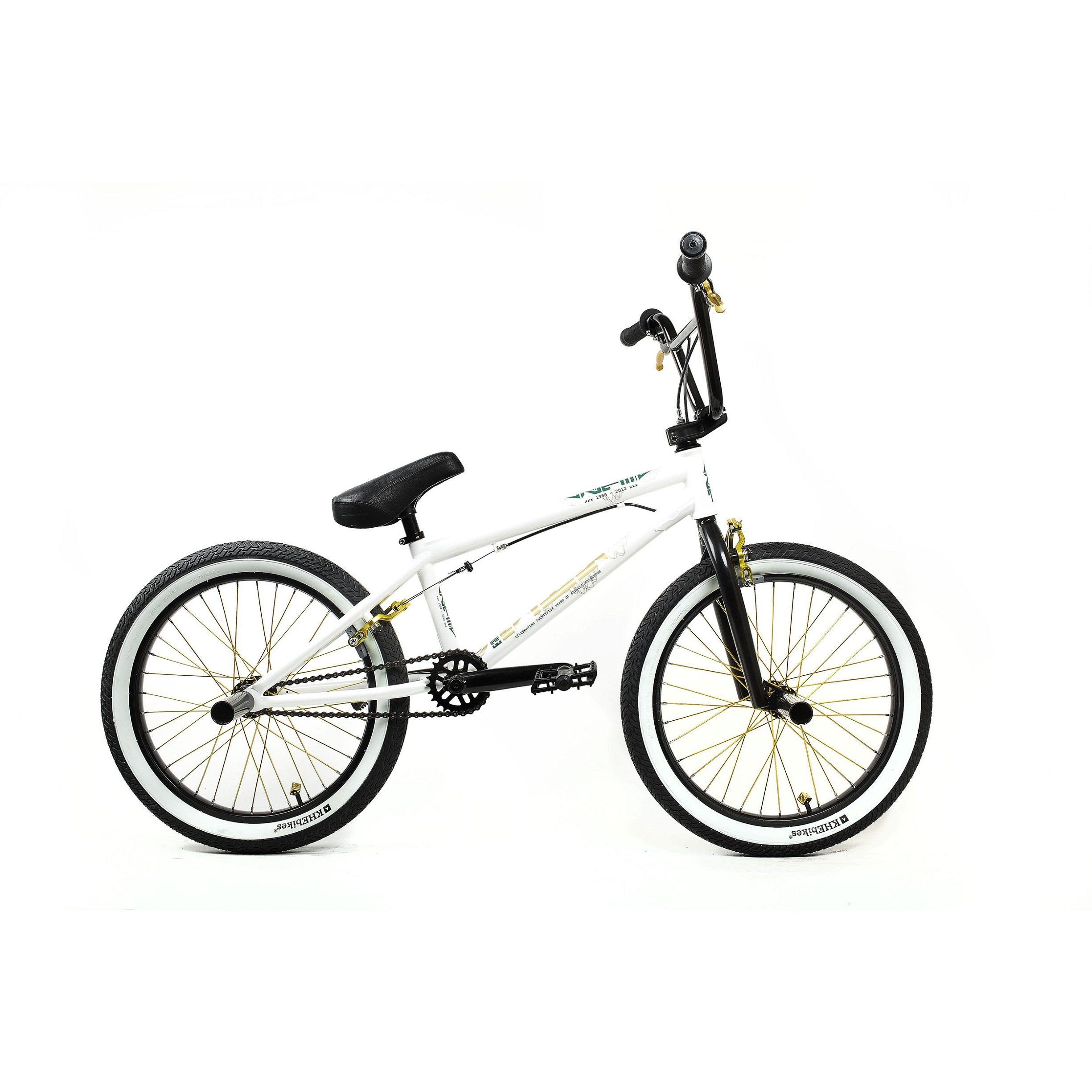 KHE Bikes 25th Freestyle BMX Bicycles, White