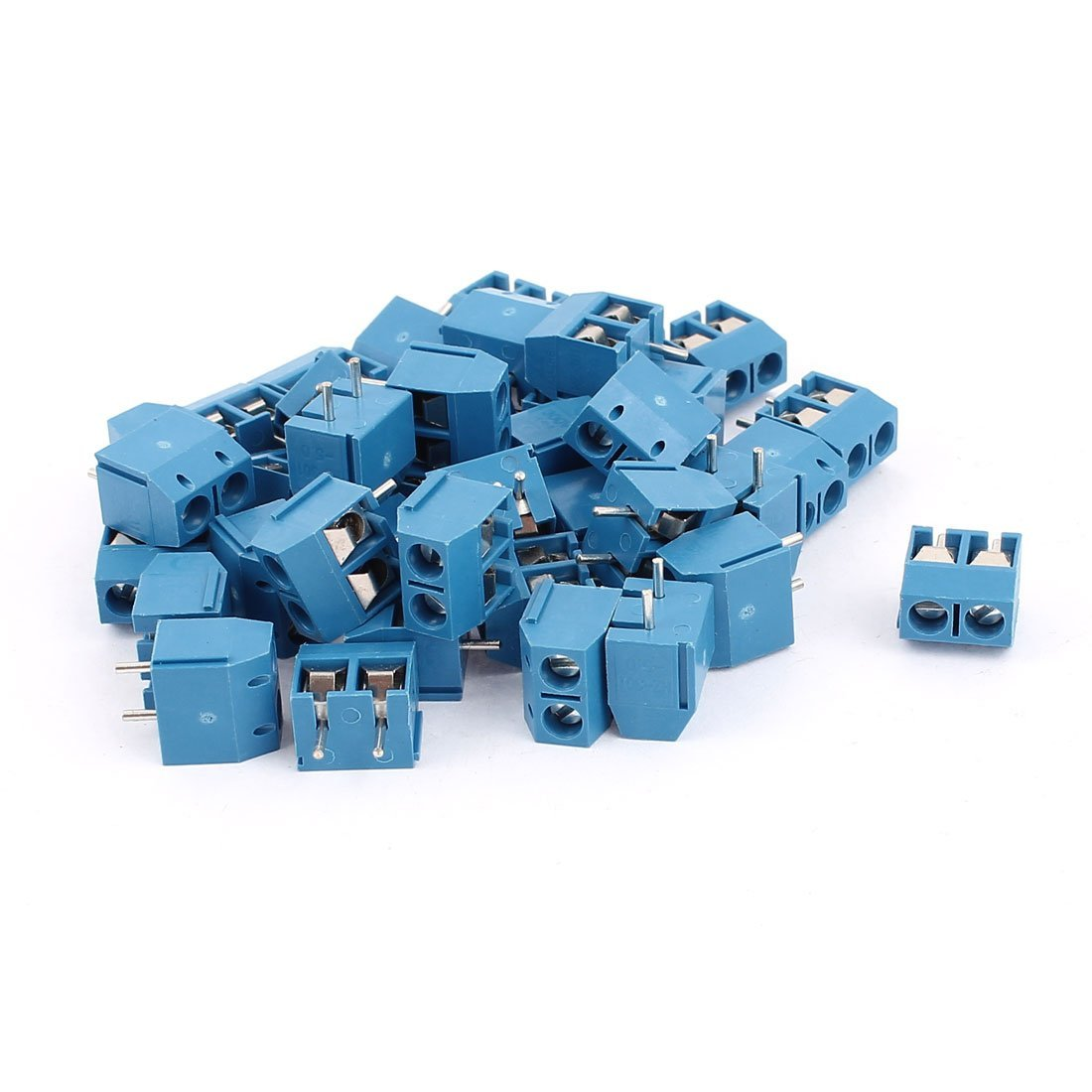 uxcell 40Pcs AC 300V 10A 2 Pins PCB Mounting Screw Terminal Block Connector