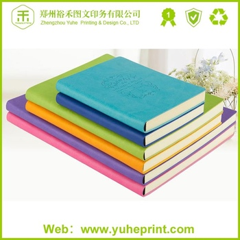 777f8eeb0 Custom size jotter round corner printing with opp bag packaging colorful  leather notebook embossed