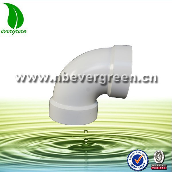 Water Supply Plastic Fitting White Elbow for pvc pipe