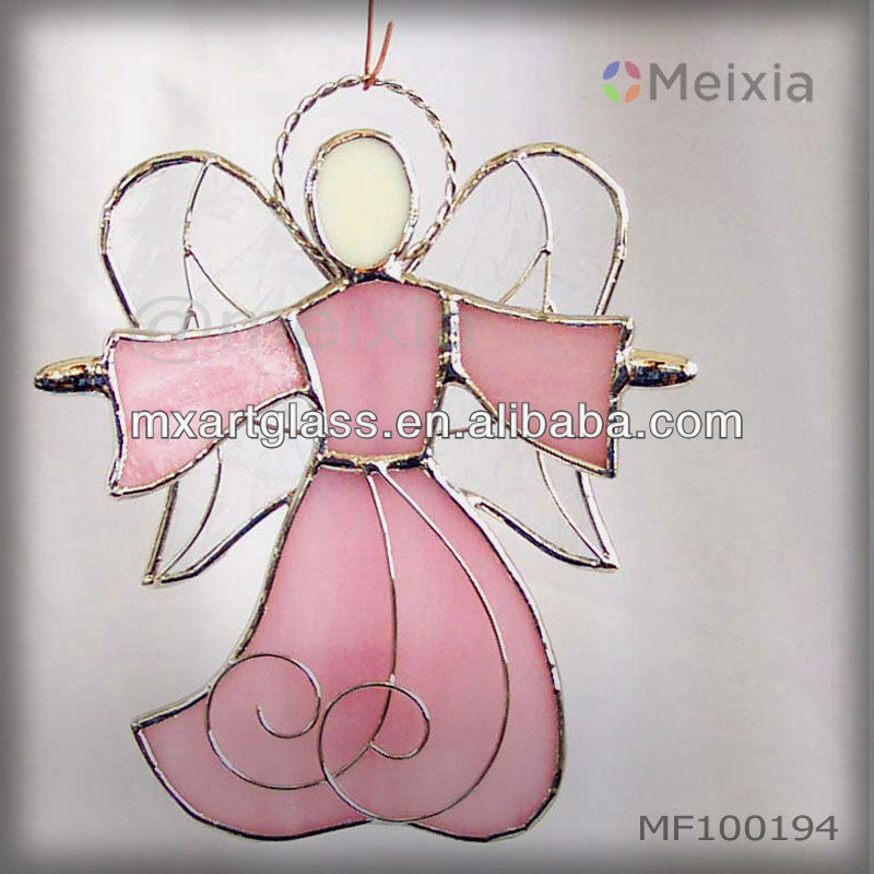 MF100194 china wholesale stained glass angel wall hanging for christmas decoration
