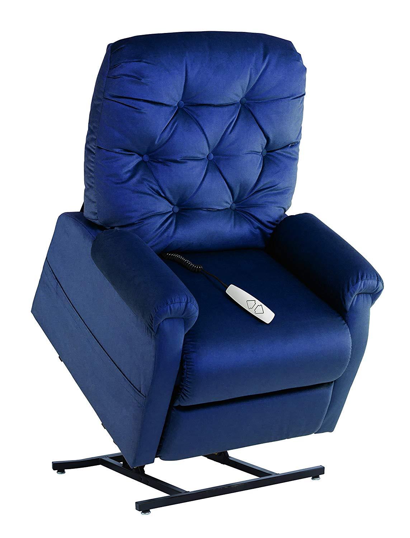 Mega Motion NM200 Power Recline with Lift Option Chair, Medium, Navy