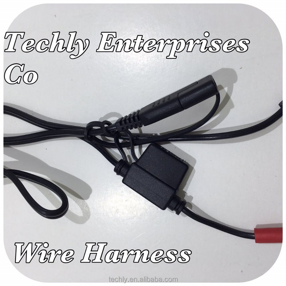 personalizado 12 v 6 v fusível conector chicote de fios 2 pole personalizado 12 v 6 v fusível conector chicote de fios 2 pole plug trailer em branda