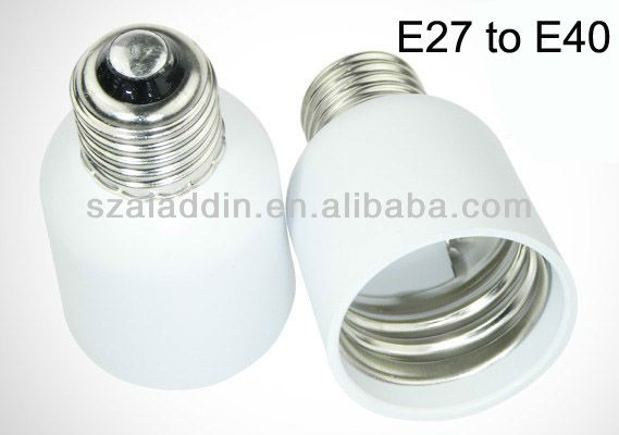 E27 to E40 lamp convertor bulb adapter socket electrical ceramic socket