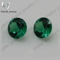 Round Brilliant Cut Nano Green Synthetic Spinel