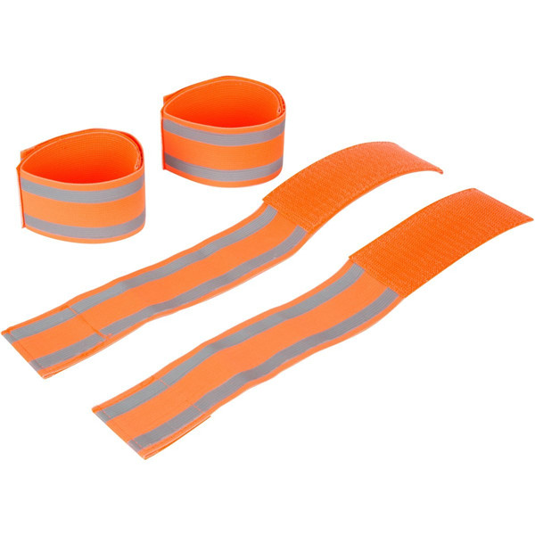 wholesale cheap high visibility custom elastic reflective arm band for running safety