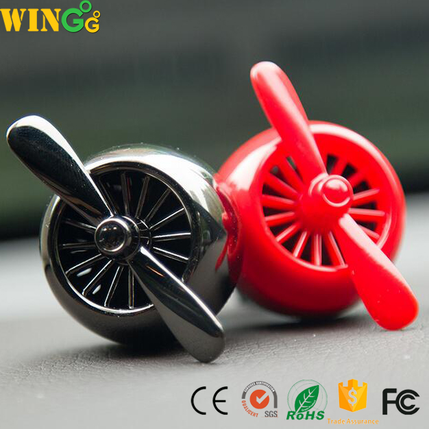 2017 New Design Car Mount Perfume Fan Shape Outlet Air Freshener for Car