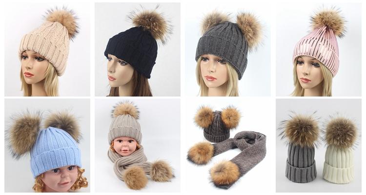 Модные Классические леопардовым принтом детские шерстяные шапочка Мех животных pom вязаные детские теплые зимние шапки