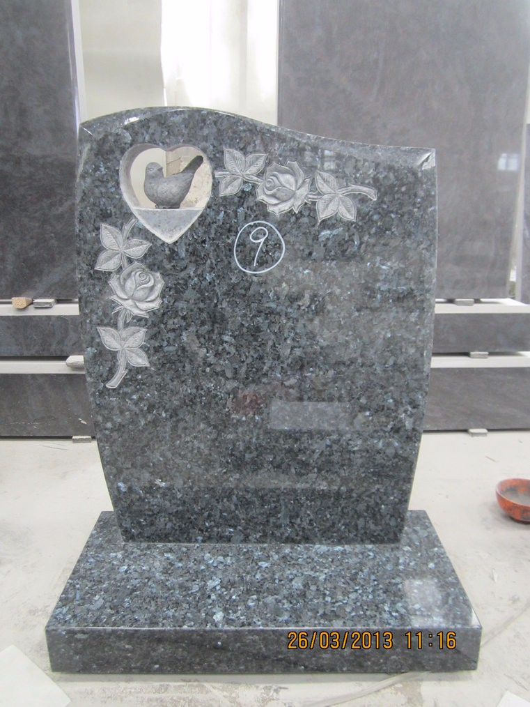 Granite Stone Monuments : Haobo stone american style black granite angel headstones
