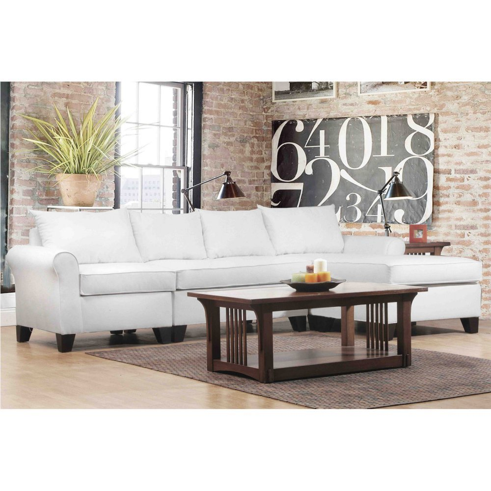 Get Quotations · Carolina Accents Belle Meade 3 Piece Sectional Sofas,  Natural
