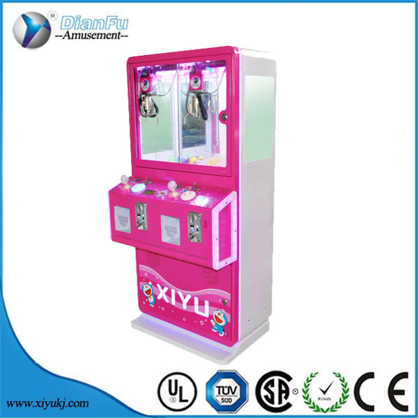 kids coin operated pusher arcade game toys vending machine catcher machine crane claw machines for sale