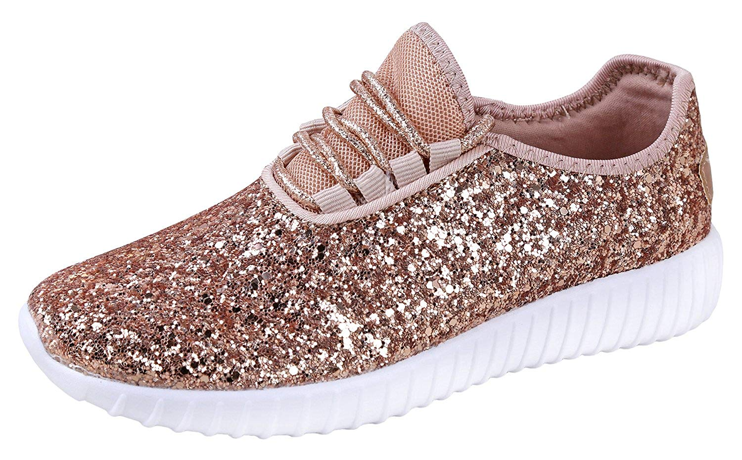 size 40 d56dc c3569 Get Quotations · Foxy Grey Allison Womens Sneakers   Glitter Shoes for  Women   Fashion Sneakers   Sparkly Shoes
