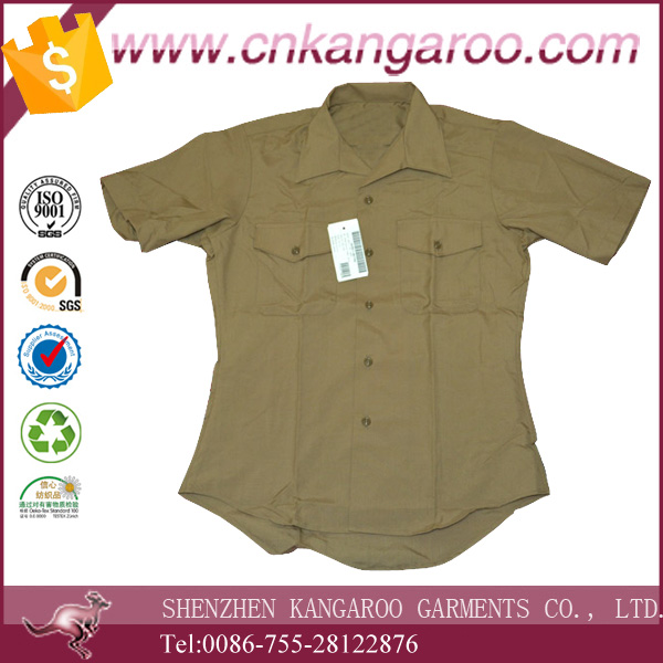 100% Cotton Cheap Price Short Sleeve Combat Shirt