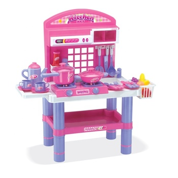 High quality kitchen game musical children cooking set with table