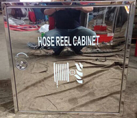 Stainless steel fire hose box fire extinguisher cabinet