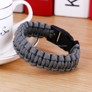 Survival Paracord Men Bracelet Fit Whistle Buckle Outdoor Camping Hiking Survival Wristband Emergency Rope Bracelet
