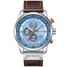 CURREN 8291 heren Horloges Quartz Fashion & Casual Auto Datum Lederen Band Horloges