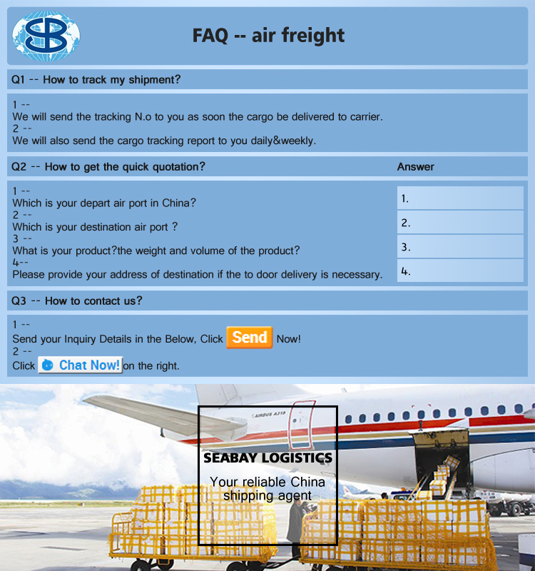 Sample consolidation cheap air freight rates from china to for Motor freight shipping rates