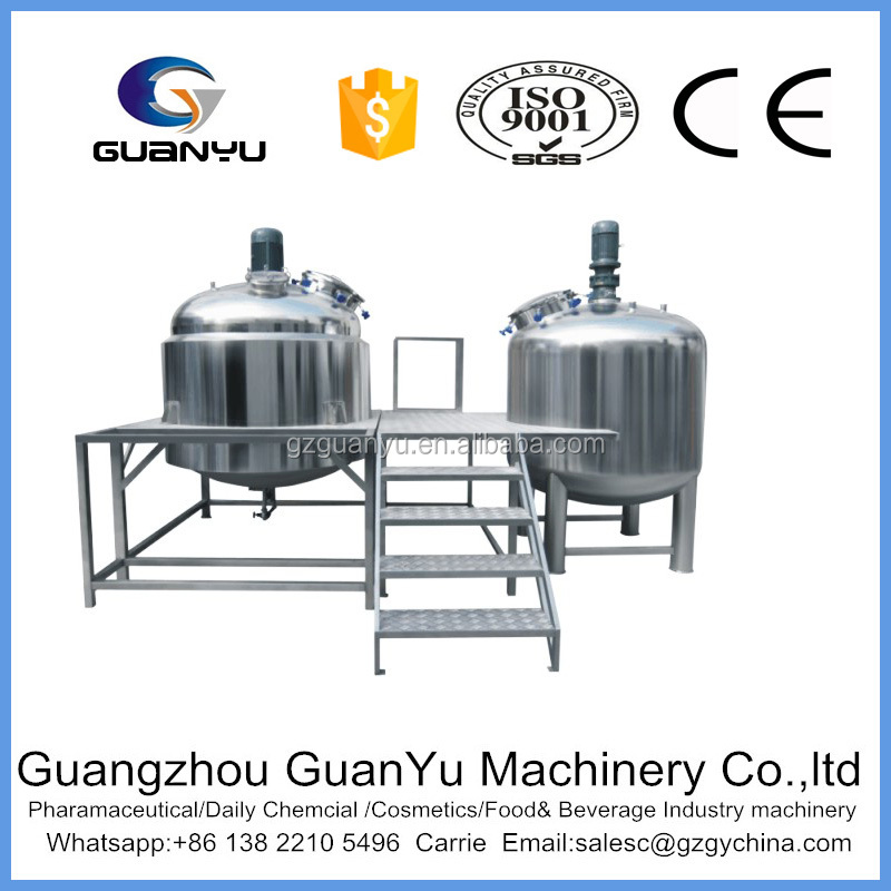 Vacuum fixed sanitary stainless steel ketchup emulsifying mixer