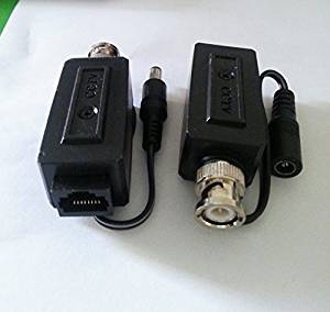 HIFROM(TM) 1 Pair BNC Male Connector to RJ45 Security Camera Balun for CCTV Camera
