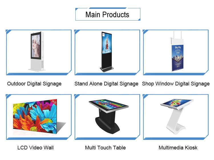55 インチのフロアスタンドのフル 1080p 液晶広告ディスプレイ画面デジタル看板トーテム