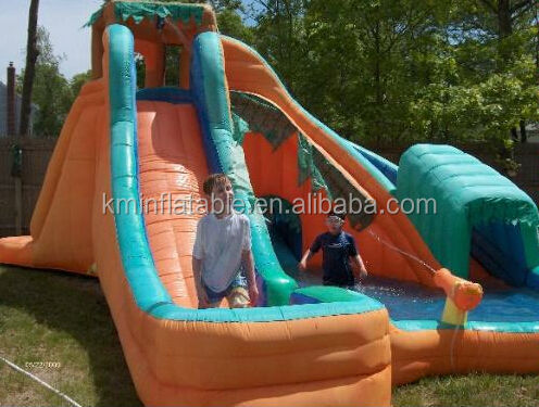 Cheap inflatable water park with pool for sale buy cheap for Cheap inflatable pool